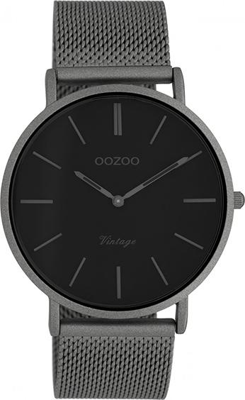 OOZOO Vintage Uhr Titangrau/Schwarz 40mm