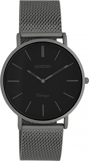 OOZOO Vintage Uhr Titangrau/Schwarz 36mm