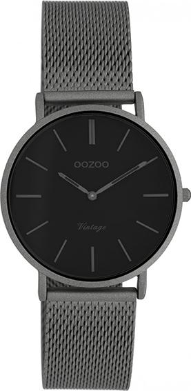 OOZOO Vintage Uhr Titangrau/Schwarz 32mm