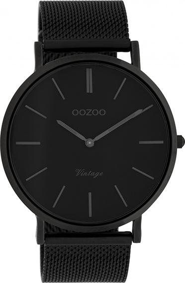 OOZOO Vintage Uhr Schwarz 44mm