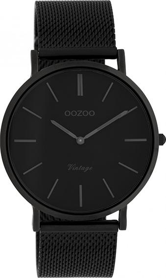 OOZOO Vintage Uhr Schwarz 40mm