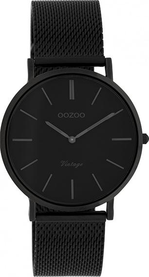 OOZOO Vintage Uhr Schwarz 36mm