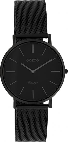 OOZOO Vintage Uhr Schwarz 32mm