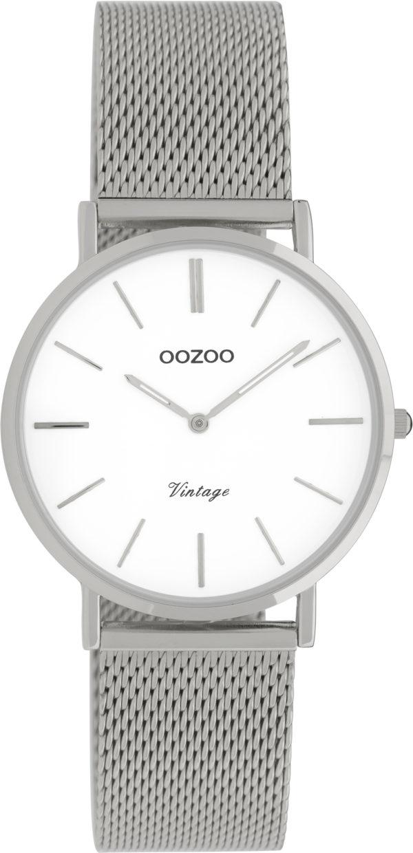 OOZOO Vintage Uhr Silber/Weiß 32mm