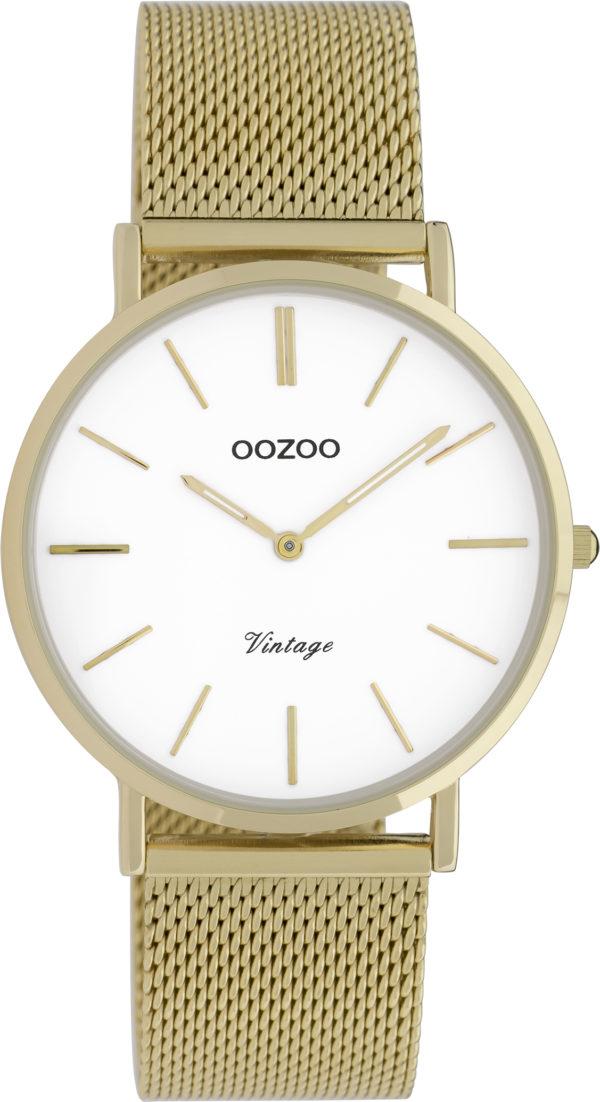 OOZOO Vintage Uhr Gold/Weiß 36mm