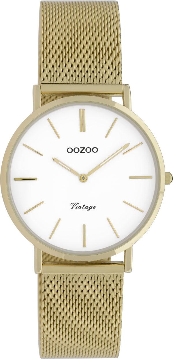 OOZOO Vintage Uhr Gold/Weiß 32mm