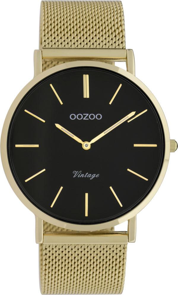 OOZOO Vintage Uhr Gold/Schwarz 40mm