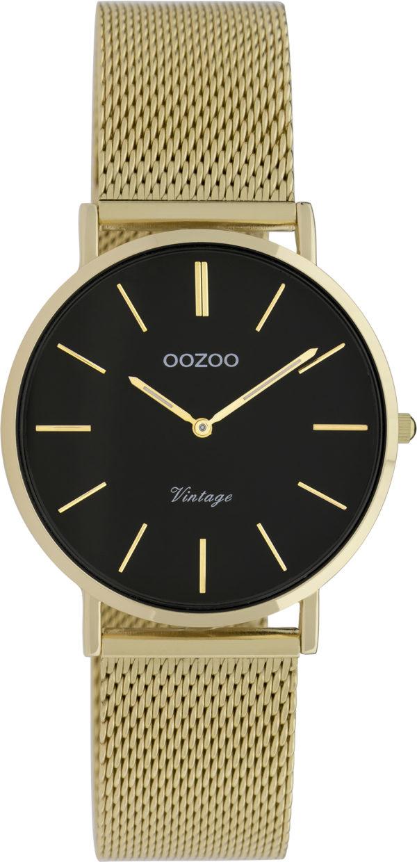 OOZOO Vintage Uhr Gold/Schwarz 32mm