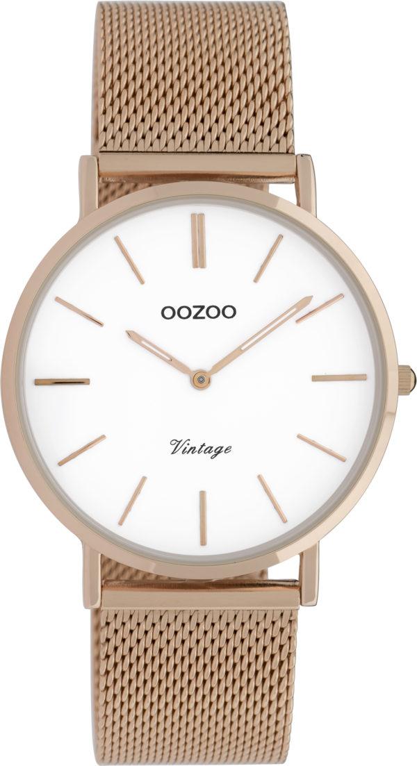 OOZOO Vintage Uhr Roségold/Weiß 36mm