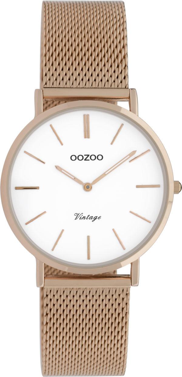 OOZOO Vintage Uhr Roségold/Weiß 32mm