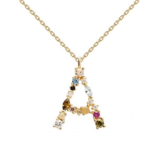 PDPAOLA Buchstaben Halskette Gold