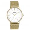 OOZOO Vintage Uhr Gold/Weiß 40mm