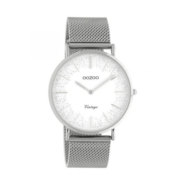 OOZOO Vintage Uhr Silber/Silber 40mm