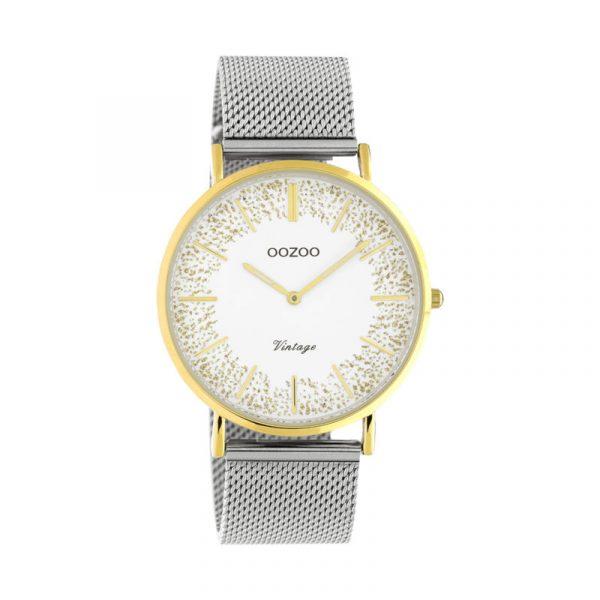 OOZOO Vintage Uhr Silber/Gold 40mm