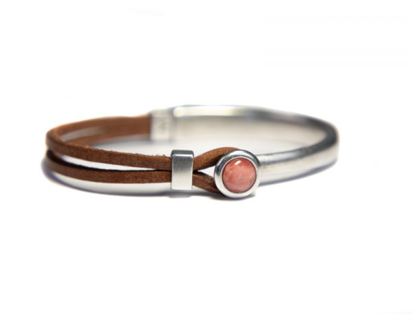 Qoss Armband Eva Braunes Leder