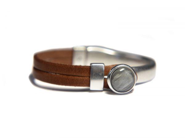 Qoss Armband Gwen Braunes Leder