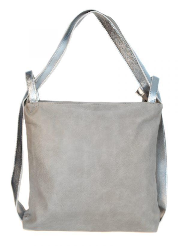 Rucksacktasche Grau/Silber