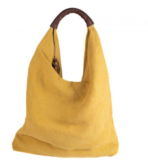 Canvas Shopper Gelb